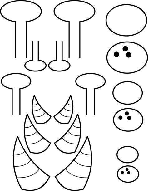 moster template image printable templates