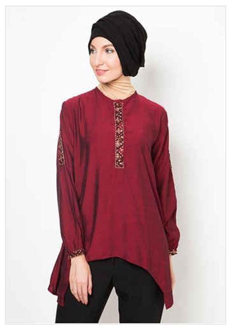 Batik Muslim 2016 Model Baju Batik Muslim Atasan Wanita 2016 Koleksi
