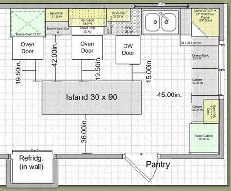 ideas  kitchen island dimensions