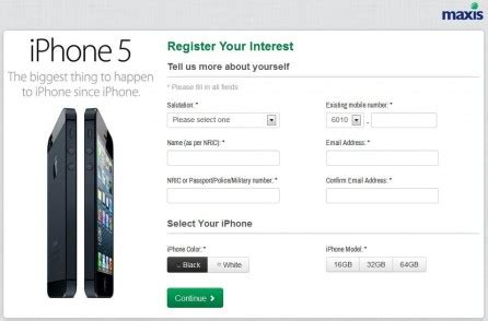 iphone 5 in malaysia maxis celcom registration of interest roi