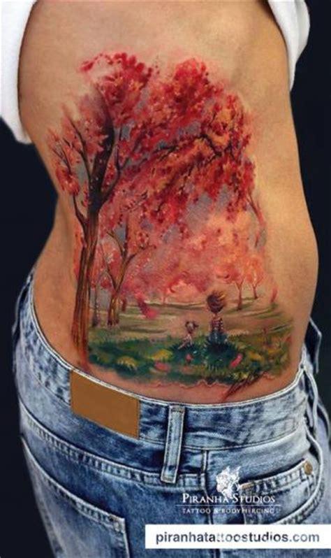 autumn landscape painting tattoo  tattoo ideas gallery