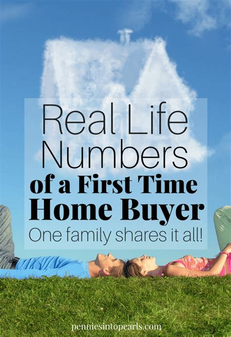 information on buying a house for the first time real life numbers of a first time home buyer entering escrow