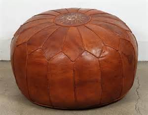 Morrocan Ottoman Large Vintage Moroccan Leather Pouf At 1stdibs