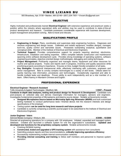 resume format for experienced electrical engineer pdf resume format for experienced electrical engineers