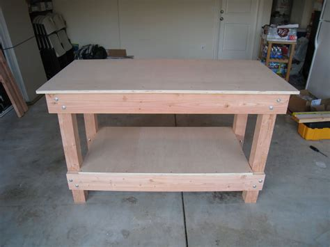 diy woodworking bench workbench completed great step by step instructions