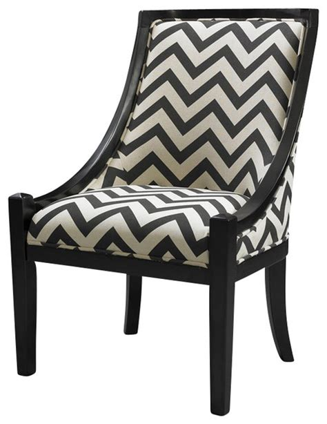 Chevron Dining Chair Linon Carnegie Chevron Chair Black Transitional Dining Chairs By Cymax