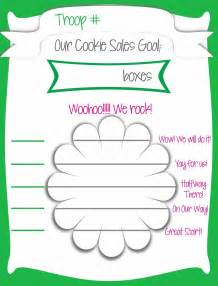 goal poster template my fashionable designs scout cookie sales free