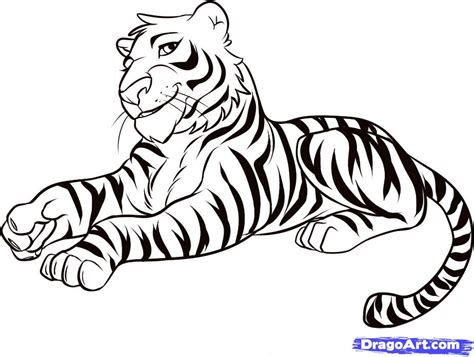 tiger easy easy tiger coloring pages