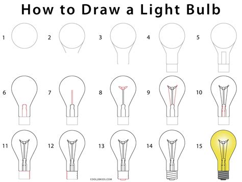 how to do doodle step by step how to draw a lightbulb step by step pictures cool2bkids