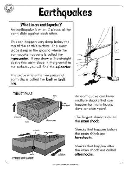 earthquake science earthquakes 6pg natural disasters pinterest