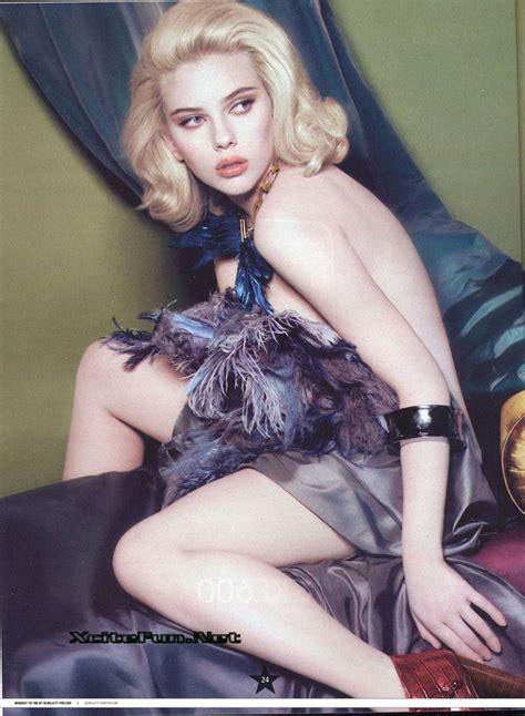 scarlet johnson flirty   celebrity french mag