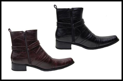 mens zipper dress boots bonafini s dress boots with side zipper