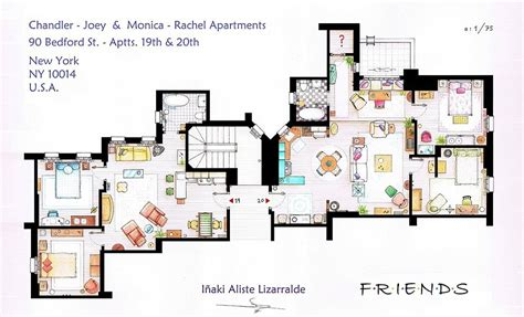layout of monica s apartment artists sketch floorplan of friends apartments and other