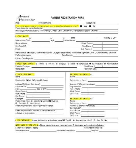 patient registration form template 44 new patient registration form templates printable