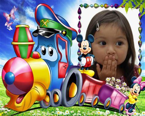 montajes y fotomontajes infantiles para ni os y bebes hermoso marco para montajes infantiles con un tren y con