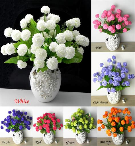 home decor artificial flowers 36 pcs artificial silk hydrangea flower floral wedding