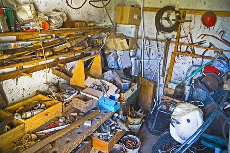 messy workshop stock image image  disarray mess wood