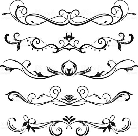 design vector a various scroll designs scroll design free and stenciling