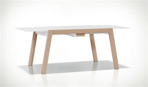 table avec rallonge design table manger extensible scandinave blanc et bois spot vox