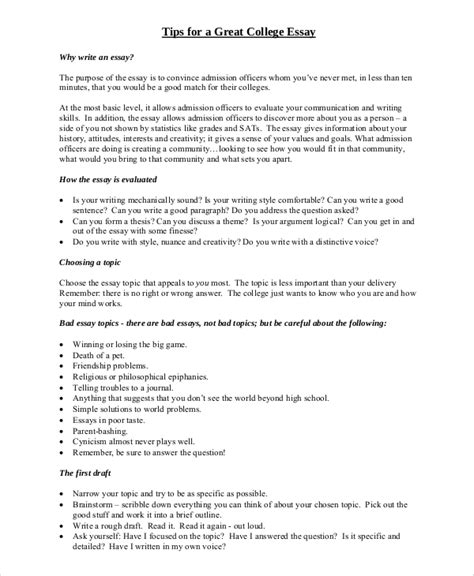 College Essay Format Exles by College Essays College Application Essays Exle Of College Essay Format