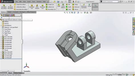 solidworks tutorial origin solidworks 2014 tutorial feature manager design tree