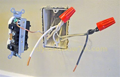 backwiring an electrical outlet in parallel with pigtail