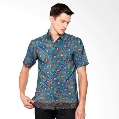 Kemeja Batik Fashion Pria Semi Slim Fit 9 jual batik heritage royal squid slim fit kemeja batik pria toska harga
