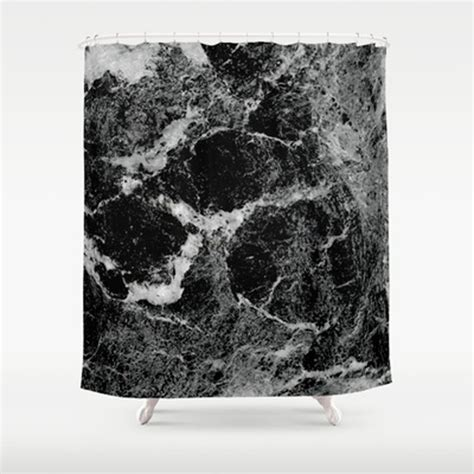 Marble Shower Curtain by Marbled Shower Curtain From Society6 Marble Effect Micro