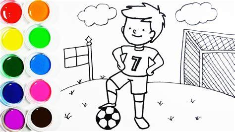 imagenes de niños jugando futbol para dibujar c 243 mo dibujar y colorear un ni 241 o en un co de futbol