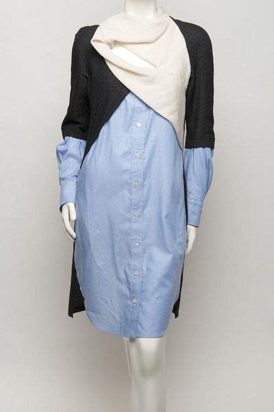 Ox Ziera Blouse White pilotto ox draped shirt dress in blue white lyst