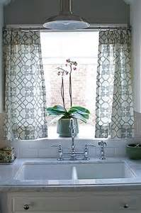Kitchen Sink Window Treatment Ideas Kitchen Cafe Curtains Transitional Kitchen Caitlin