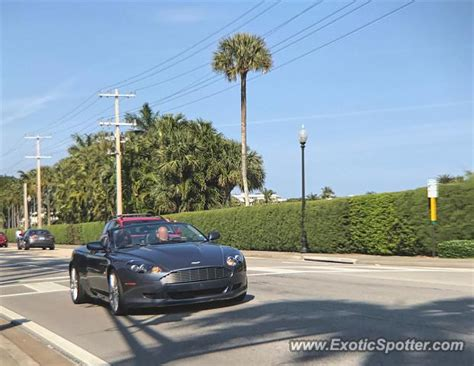 Aston Martin Of Palm by Aston Martin Db9 Spotted In Palm Florida On 01 28 2017
