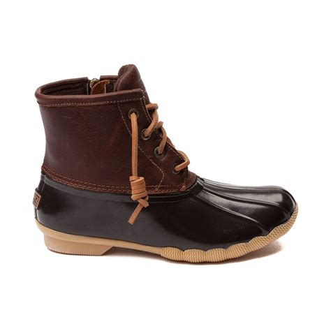 womens sperry boots womens sperry top sider saltwater boot brown 583630