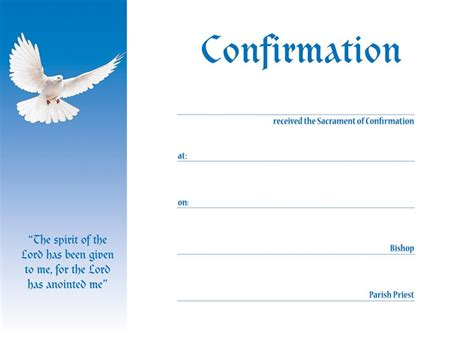 Confirmation Presentation Certificate (Blue) Pack of 25