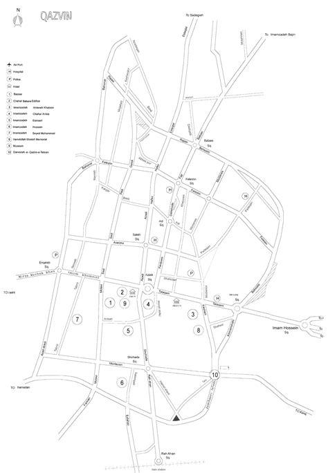 qazvin iran map maps of iran tehran city map railway map physical map