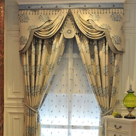 Ideal Picture Window Curtains Of Jacquard Design Style