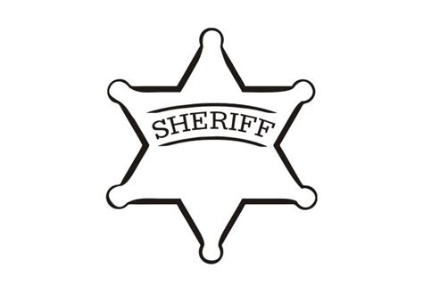 sheriff badge wall decal cool vinyl art for boys