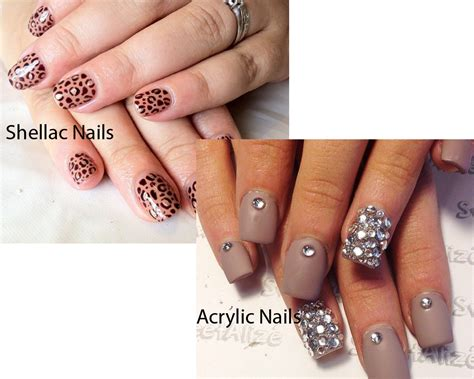 Acrylic Gel gel nails vs acrylic nails vs shellac nails gallery