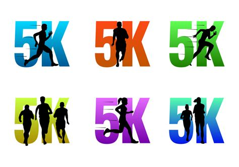 To 5k With by 5k Running Vector Logos Free Vector Stock
