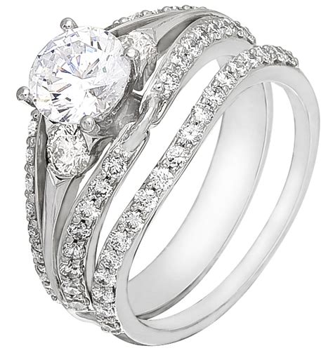 Wedding Rings On Sale by Wedding Ring Set On Sale White Gold With Diamonds
