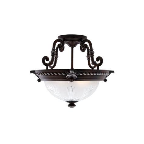 semi flush mount light fixtures hton bay bercello estates 15 in 2 light volterra