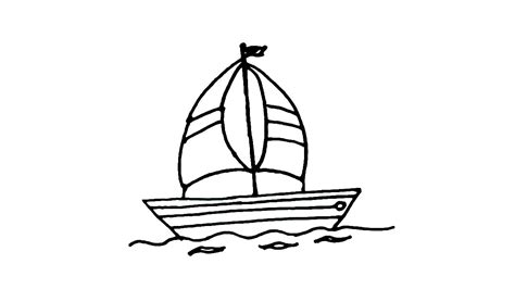 boat drawing for beginners how to draw a sailboat or sailing boat in easy steps for