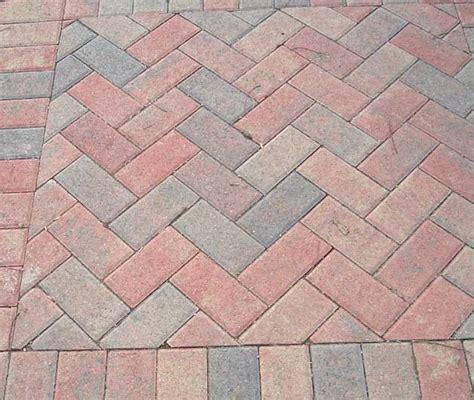 pavers in a herringbone pattern exteriors pinterest