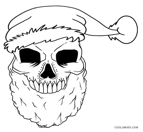 printable skulls coloring pages  kids