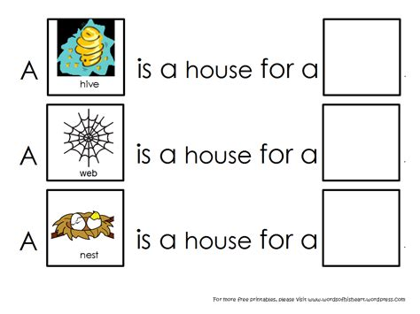 Animal Habitats Worksheets by A House Is A House For Me Animal Habitats Wordsofhisheart