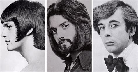 Mens Vintage Hairstyles by 1960s And 1970s Were The Most Periods For S