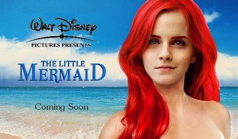 little mermaid film emma watson emma watson to star in little mermaid reboot