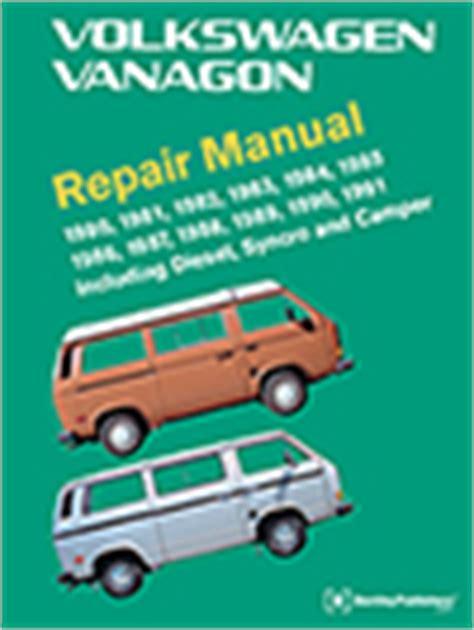front cover vw volkswagen vanagon repair manual 1980 1991 bentley publishers repair