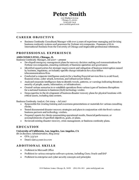 Corporate Resume Template by Business Resume Templates Resume Builder