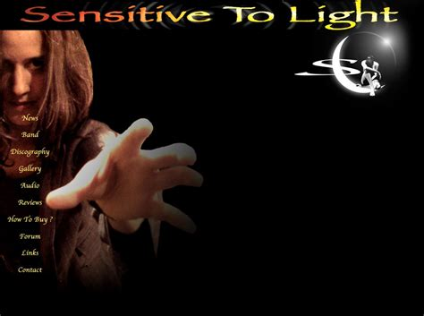 sensitive to light sensitive to light